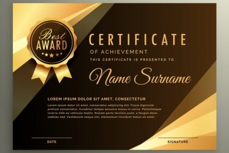 Award Vectors  Photos and PSD files   Free Download Elegant luxury certificate
