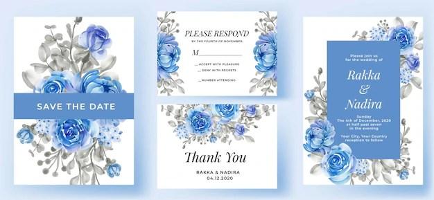 wedding invitation card with thank