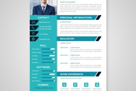 Resume Template Vectors  Photos and PSD files   Free Download Flat professional curriculum template