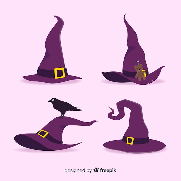 Free Vector Halloween Witch Hat Collection