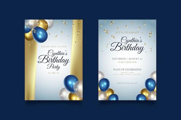 vector elegant golden birthday background
