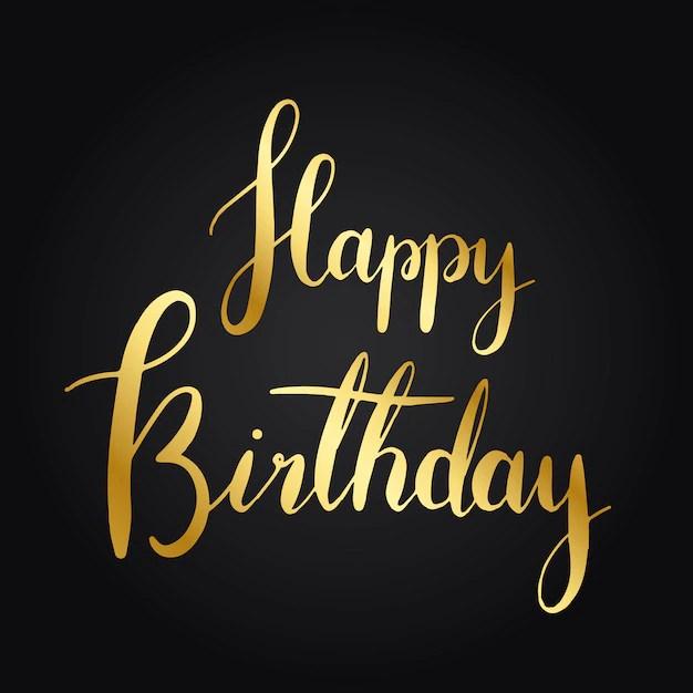 Happy Birthday Text Images Free Vectors Stock Photos Psd