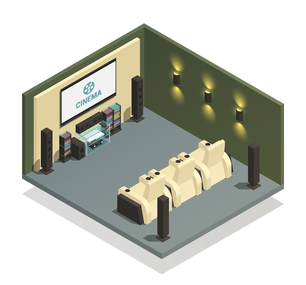 free vector home theater composition