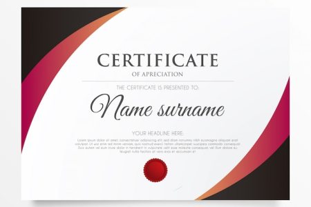 Certificate Border Vectors  Photos and PSD files   Free Download Modern certificate of appreciation
