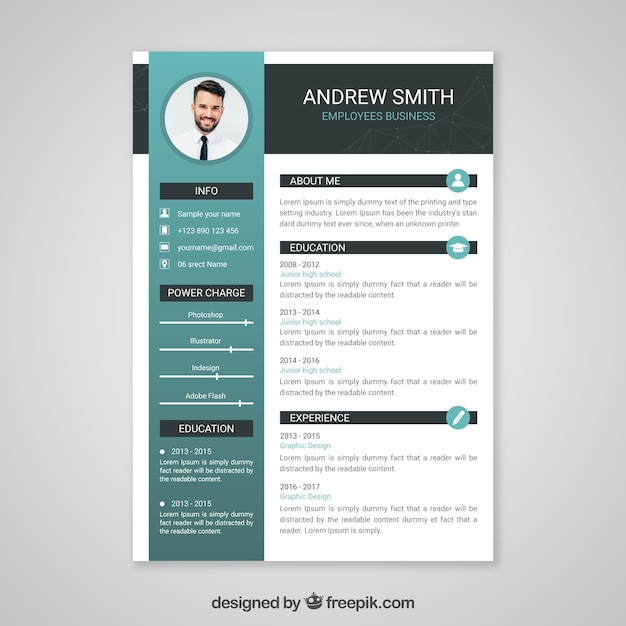 Cv Vectors  Photos and PSD files   Free Download Professional curriculum vitae template
