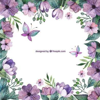 Violet Flower Vectors  Photos and PSD files   Free Download Purple flowers border