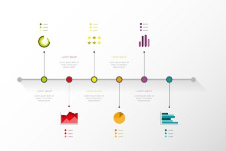 Timeline Vectors  Photos and PSD files   Free Download Timeline infographic in minimal style