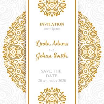 Pretty Wedding Invitation With A Fl Frame