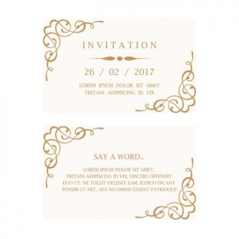 Wedding Card With Flowers On A Pink Background
