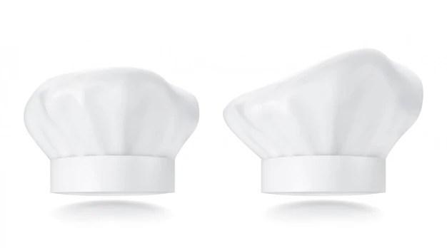 Premium Vector White Chef Hat Photorealistic