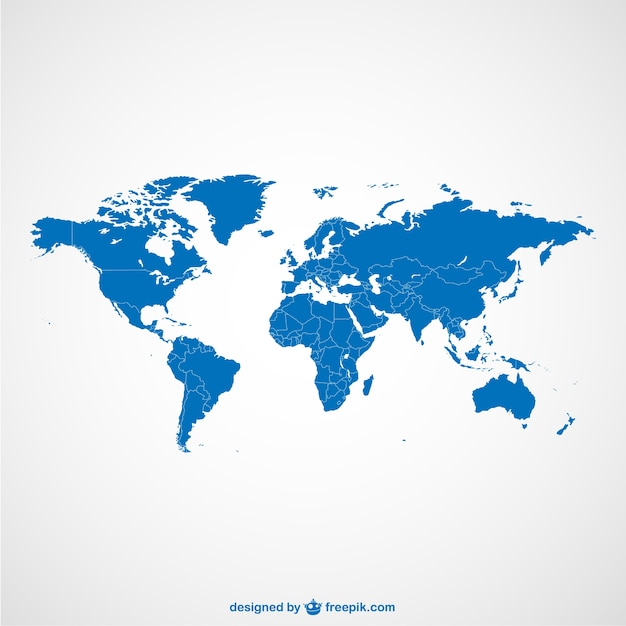 World map dots template Vector   Free Download World map blue template