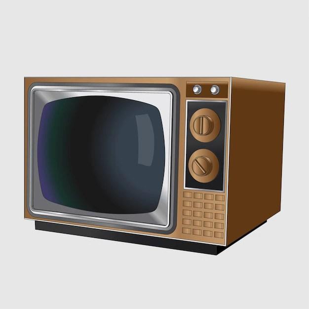 ancien televiseur noir et blanc vintage