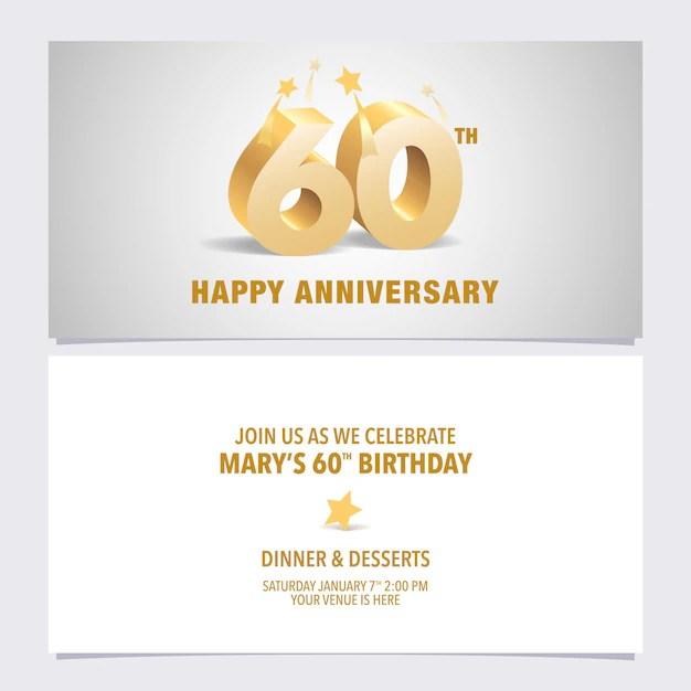 invitation d anniversaire sixty avec