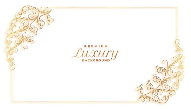 Conception De Bordure De Decoration De Cadre Decoratif Floral Elegant Vecteur Gratuite