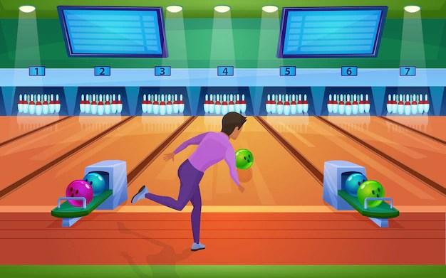 jeu de bowling illustration realiste