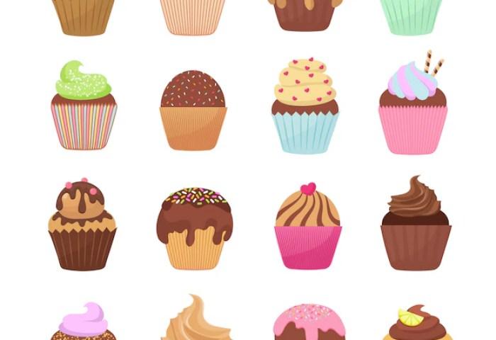 Cupcakes Vector Fotos Y Vectores Gratis
