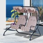 Outsunny Garden Swing Hammock 3 Seater Chair Outdoor Patio Canopy With Cushions Garden Chairs Swings Benches Garden Patio Plastpath Com Br