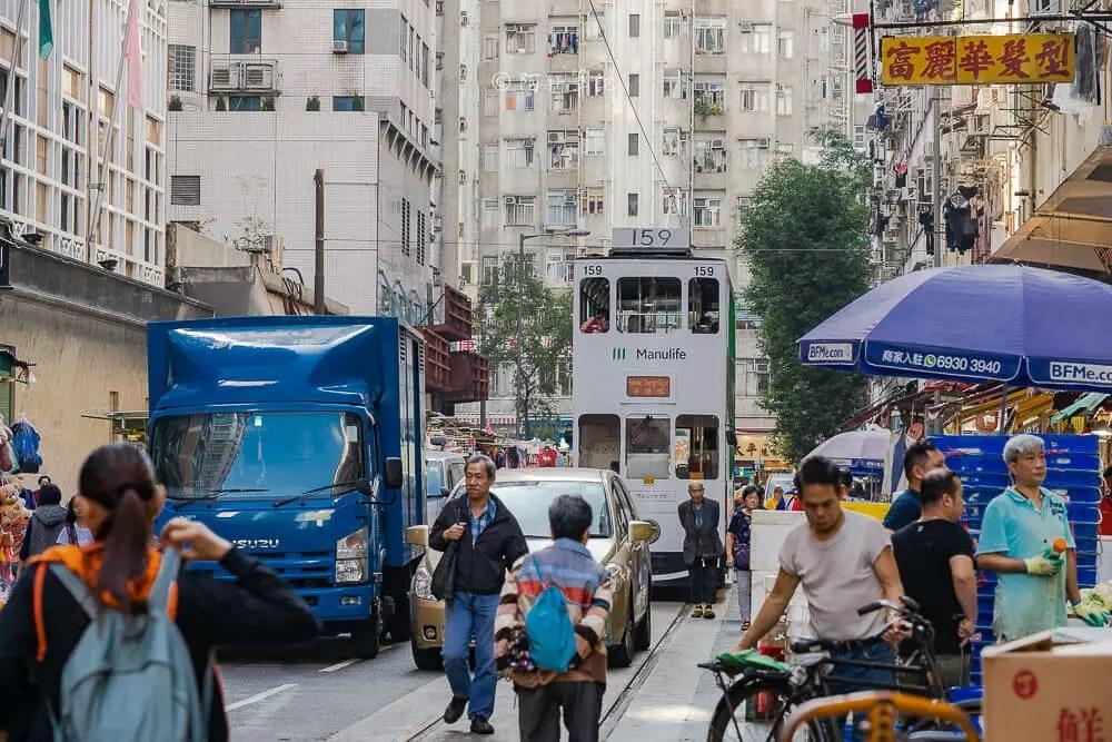 北角春秧街電車總站及北角春秧街市場
