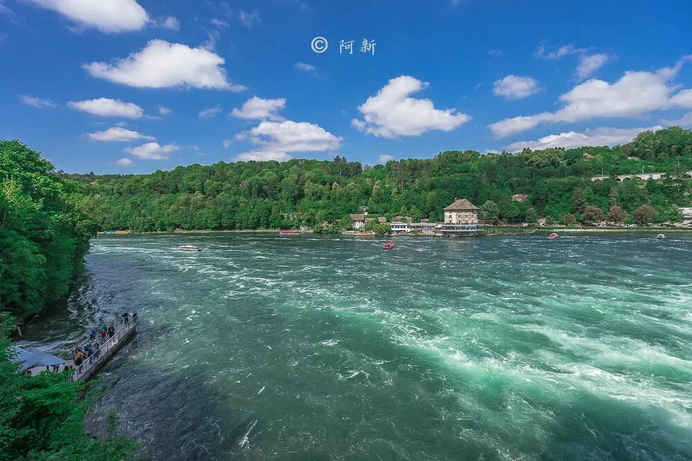 瑞士萊茵瀑布,萊茵瀑布,歐洲最大瀑布,瑞士旅遊,瑞士-08