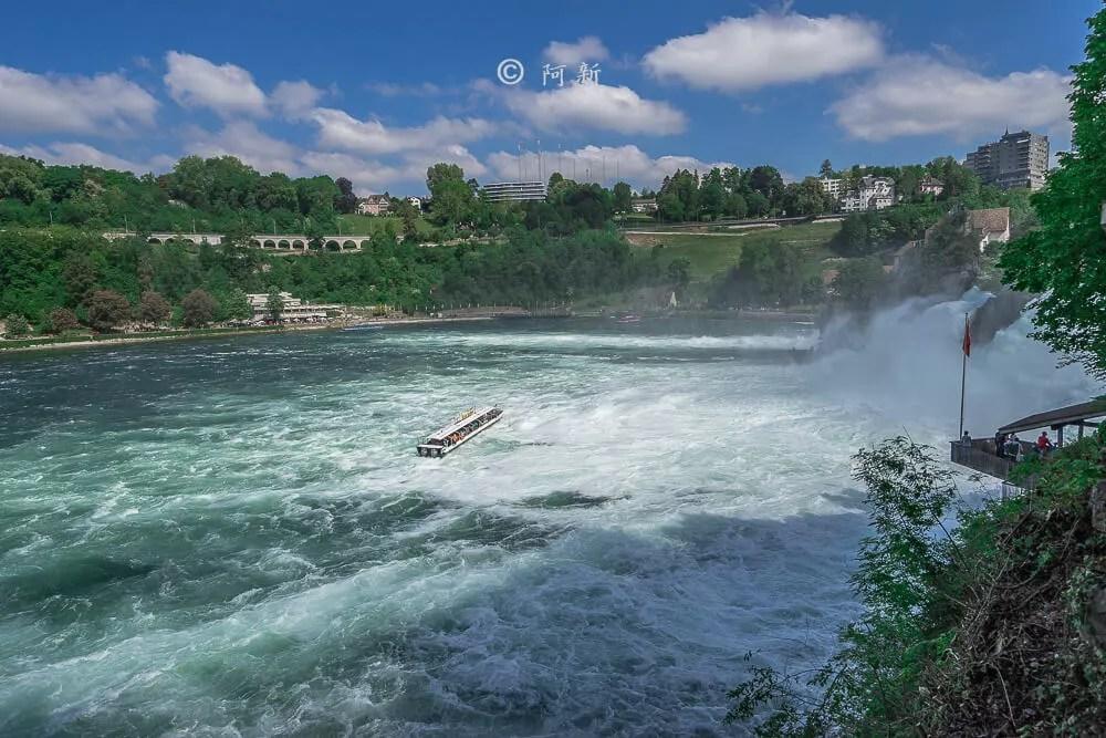 瑞士萊茵瀑布,萊茵瀑布,歐洲最大瀑布,瑞士旅遊,瑞士-11