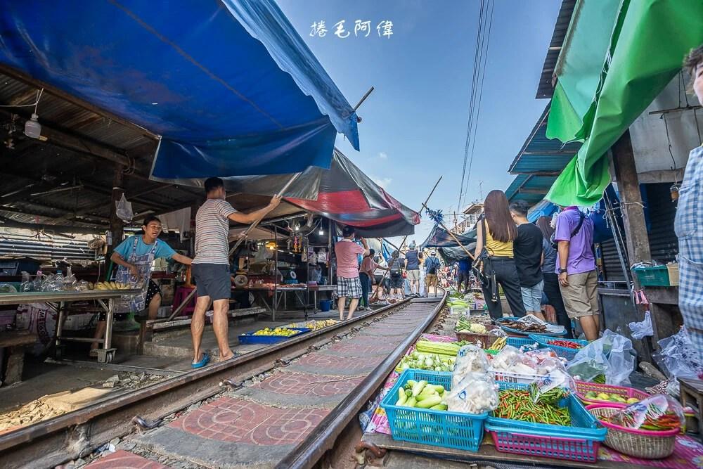 泰國旅遊,曼谷旅遊,曼谷自由行,泰國必去景點,美功鐵道市場