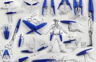 [插畫創意]原子筆蓋創意繪圖