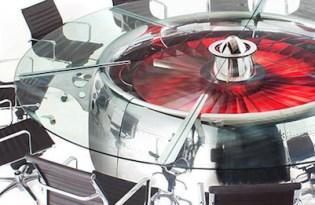 [家具設計]飛機渦輪引擎辦公桌