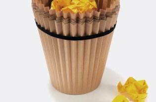 [產品設計]Emanuele Pizzolorusso設計紙垃圾桶