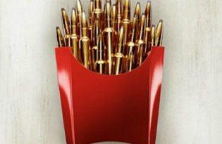 [平面設計]少吃速食薯條廣告文宣