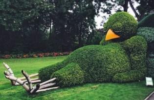 [裝置藝術]趣味打盹小鴨園藝