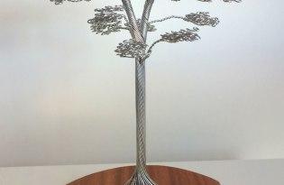 [極致工藝]鐵絲神木雕塑裝置藝術