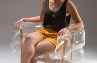 [家具設計]透明充氣沙發