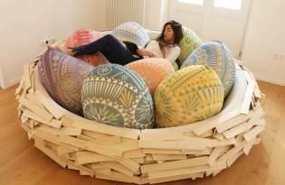 [家具設計]鳥巢窩懶骨頭沙發