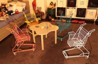 [家具設計]廢棄購物推車居家椅
