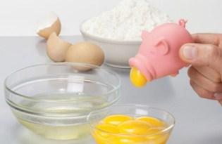 [廚具設計]Peleg粉紅豬蛋黃分離器
