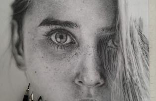 [藝術畫作]超逼真鉛筆素描創作