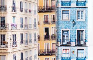 [包裝設計]歐洲城市街景風情包裝紙