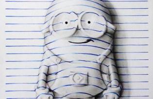 [圖文創作]「空白筆記本」立體繪畫