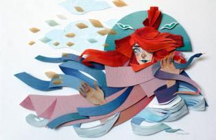 [極致工藝]日本插畫風紙雕藝術品