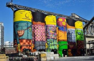 [裝置藝術]水泥工廠儲存槽的趣味塗鴉