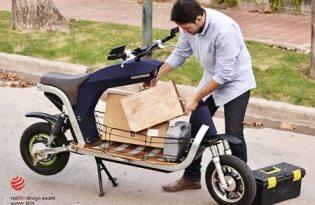 [交通工具設計]前置物箱電動摩托車