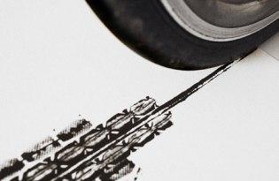 [視覺傳達]輪胎壓紋創新畫作