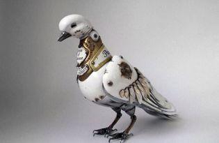 [裝置藝術]廢棄金屬唯美逼真機械動物