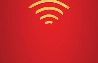 [海報設計]麥當勞免費Wifi創意薯條平面廣告