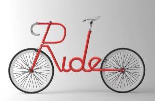 [交通工具設計]字體腳踏車視覺傳達