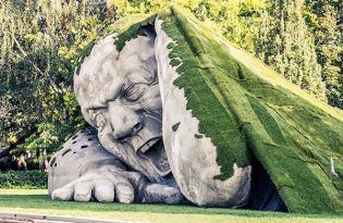 [庭院造景]石巨人庭院裝置藝術