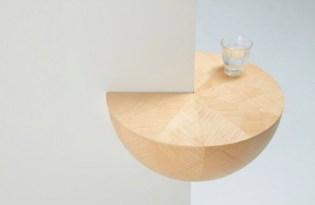 [家具設計]牆角小木桌