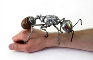 [工藝創作]廢棄金屬回收雕塑工藝品