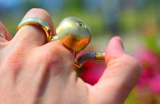 [金飾設計]鈴鐺戒指「Runbell」