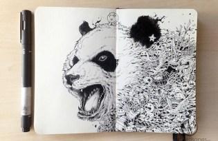 [平面設計]代針筆插畫藝術